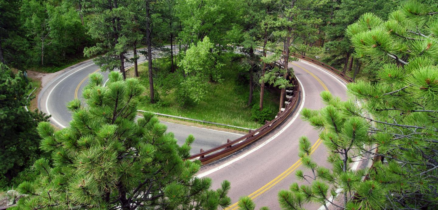 Pigtail Bridges on Iron Mountain Road