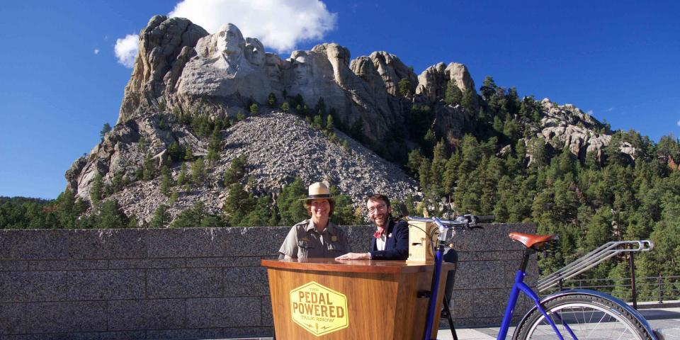 Boaz at Mount Rushmore National Memorial