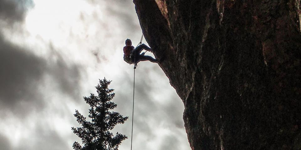 JJ Yosh climbing the Needles