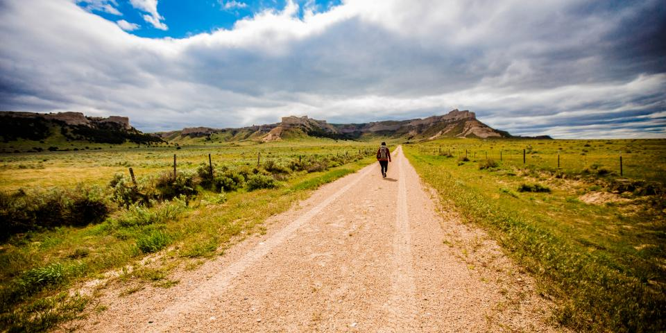 JJ Yosh on a South Dakota road