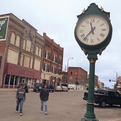 City officials are supporting the resurgence with vintage lighting and other improvements.