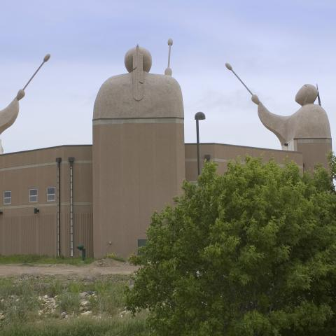 Song to the Great Spirit building, Agency Village